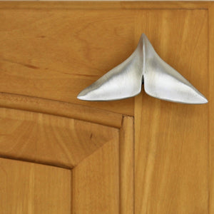 Sperm whale tail cabinet knob - ocean cabinet hardware by Peter Costello