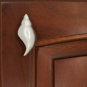 Tulip Conch Shell Knob 159L, Small size, Left Opening - Sea Life Cabinet Knobs