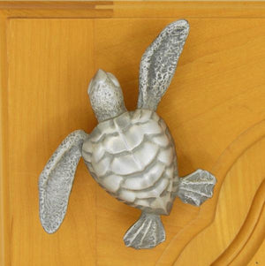 Turtle knob - brushed nickel