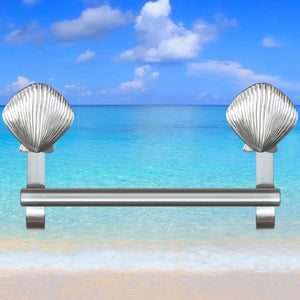 Scallop shell towel bar