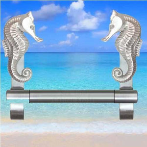 Seahorse Towel Bar, 238 - Sea Life Cabinet Knobs