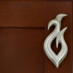 Fish Hook Cabinet Handles, 165R, Large size, Right opening - Sea Life Cabinet Knobs