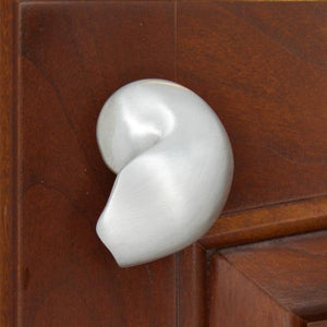 Chambered Nautilus Shell Cabinet Knobs, 163L, Small size, Left facing - Sea Life Cabinet Knobs