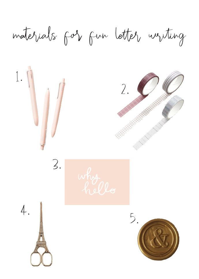 Materials for Fun Letter Writing