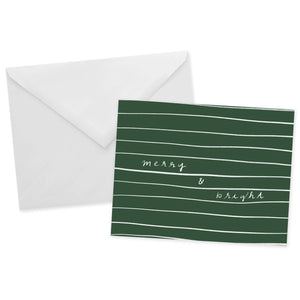 Forest Green Merry & Bright Card