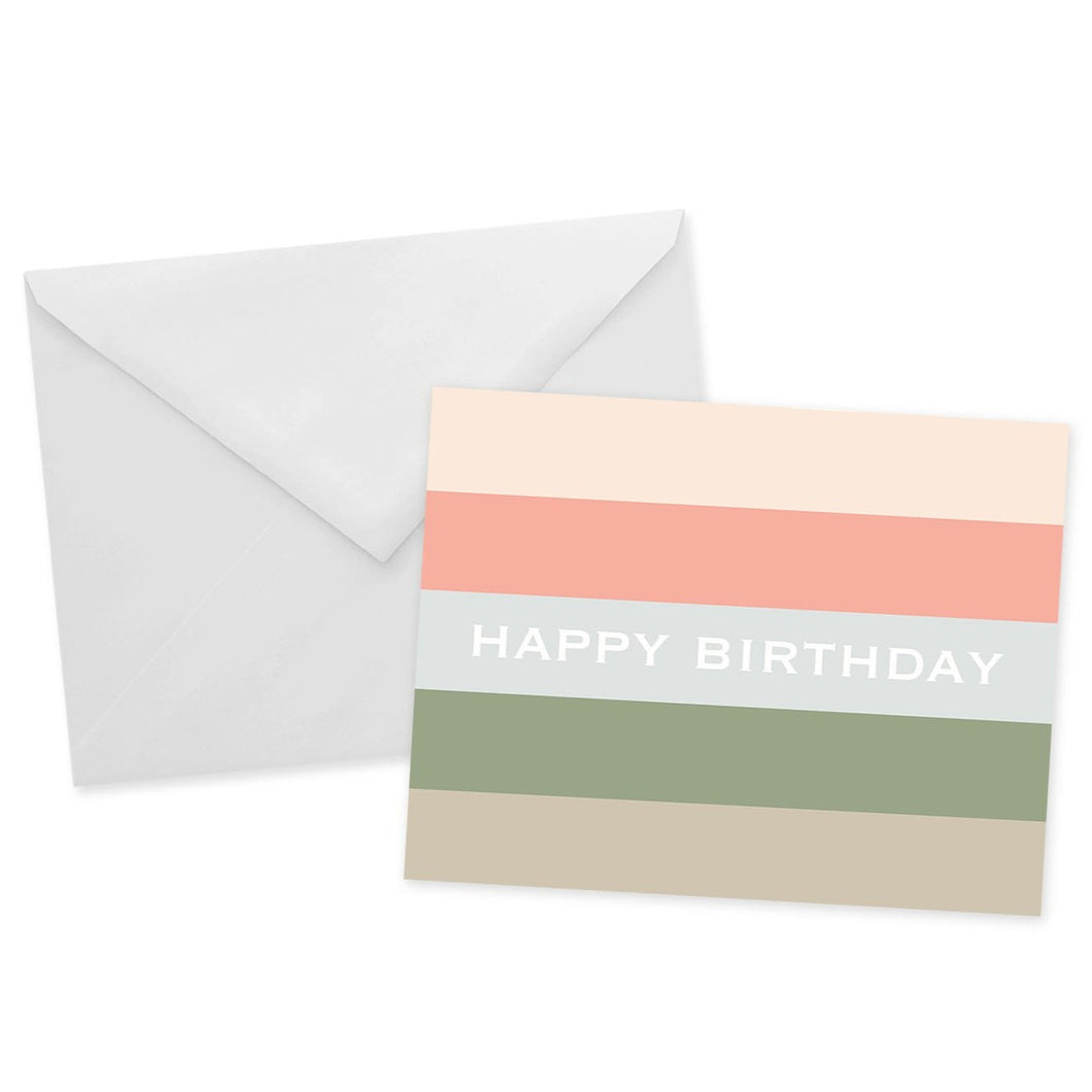 Striped Birthday Card
