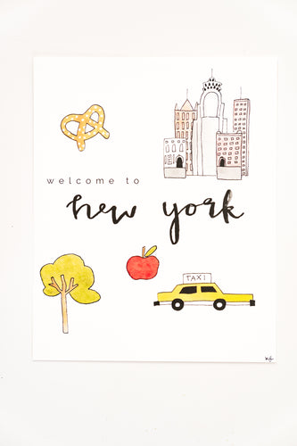 Welcome to New York Print