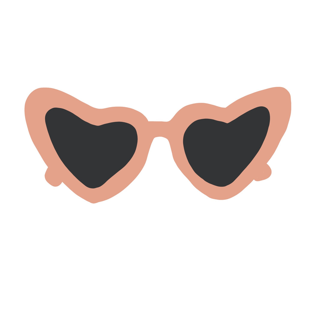 Heart Sunglass Sticker