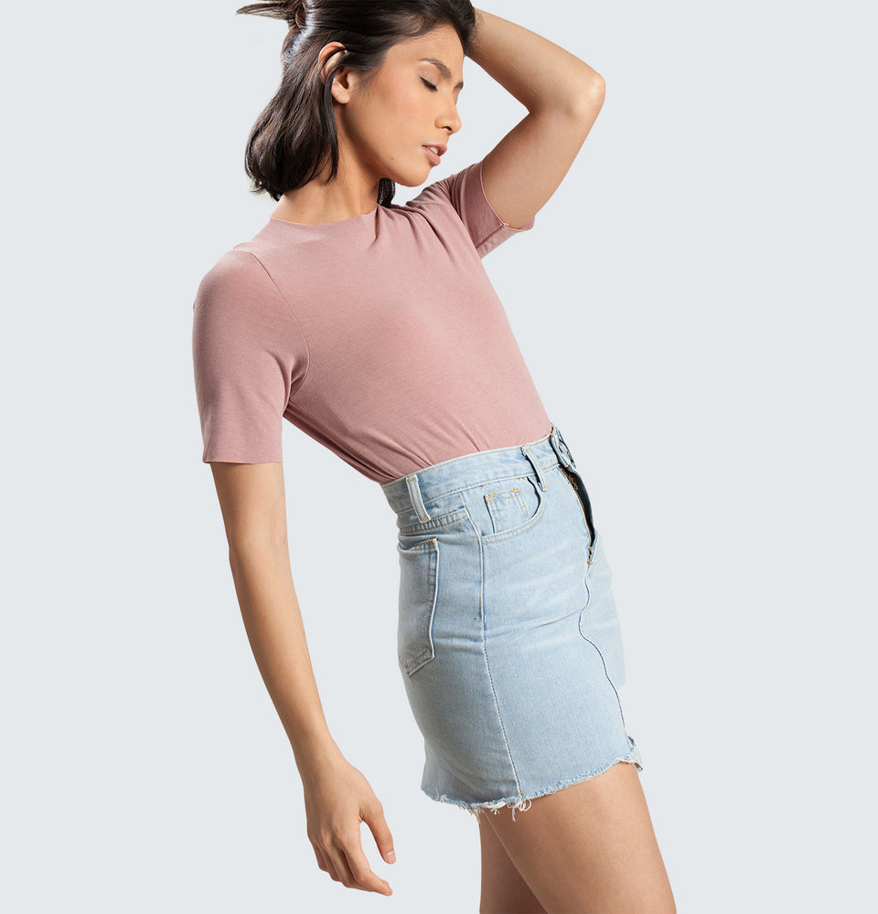High Neck Top - Mantou Clothing