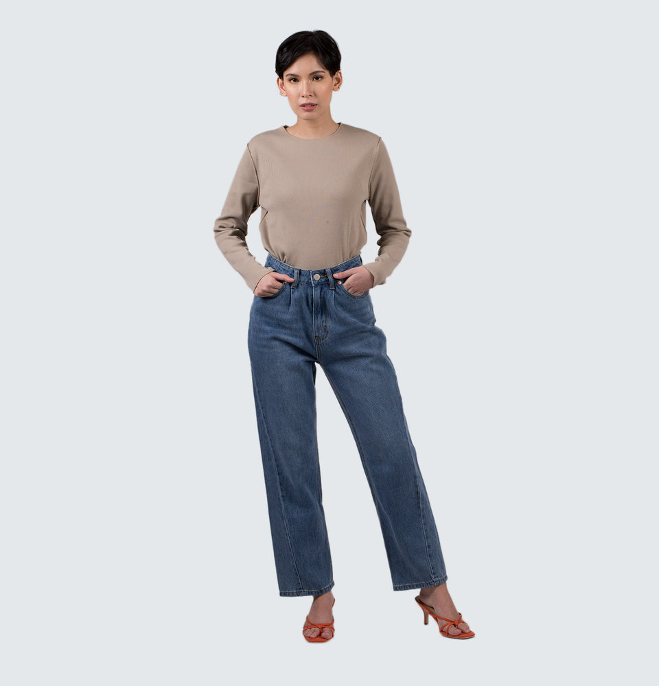 Nikki High Rise Wide Leg Jeans