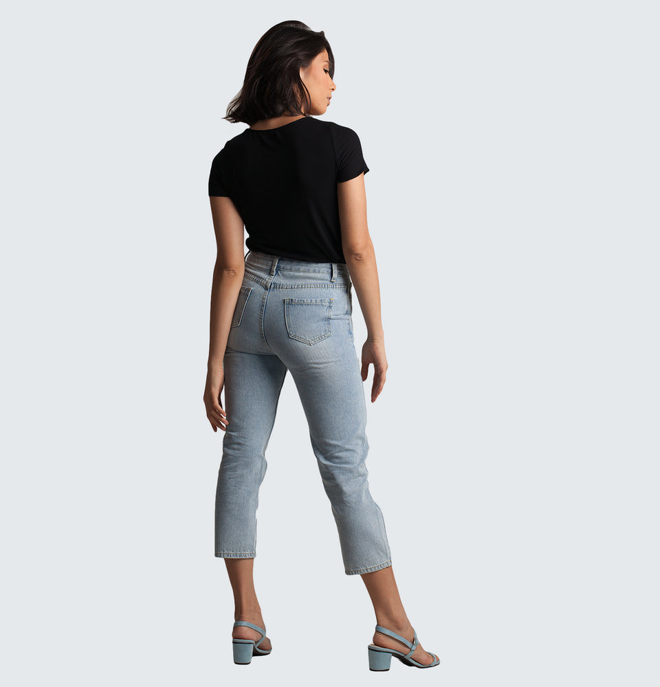 Straight Ankle Pants - Mantou Clothing