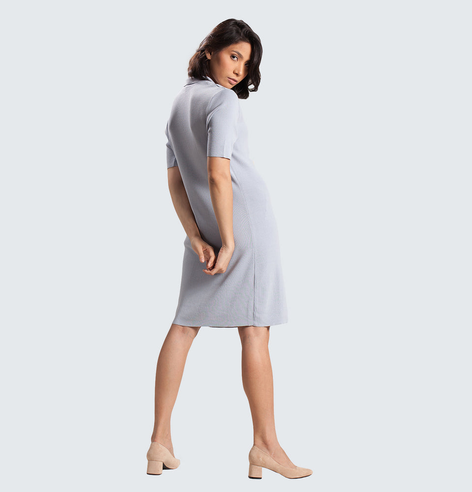 Buttoned Dress - Mantou Clothing
