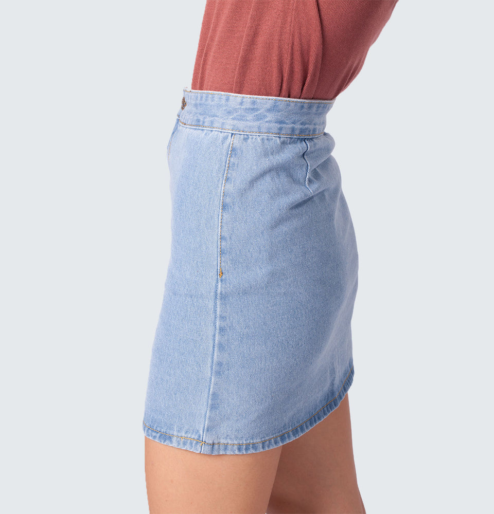 High Waist Mini Skirt - Mantou Clothing