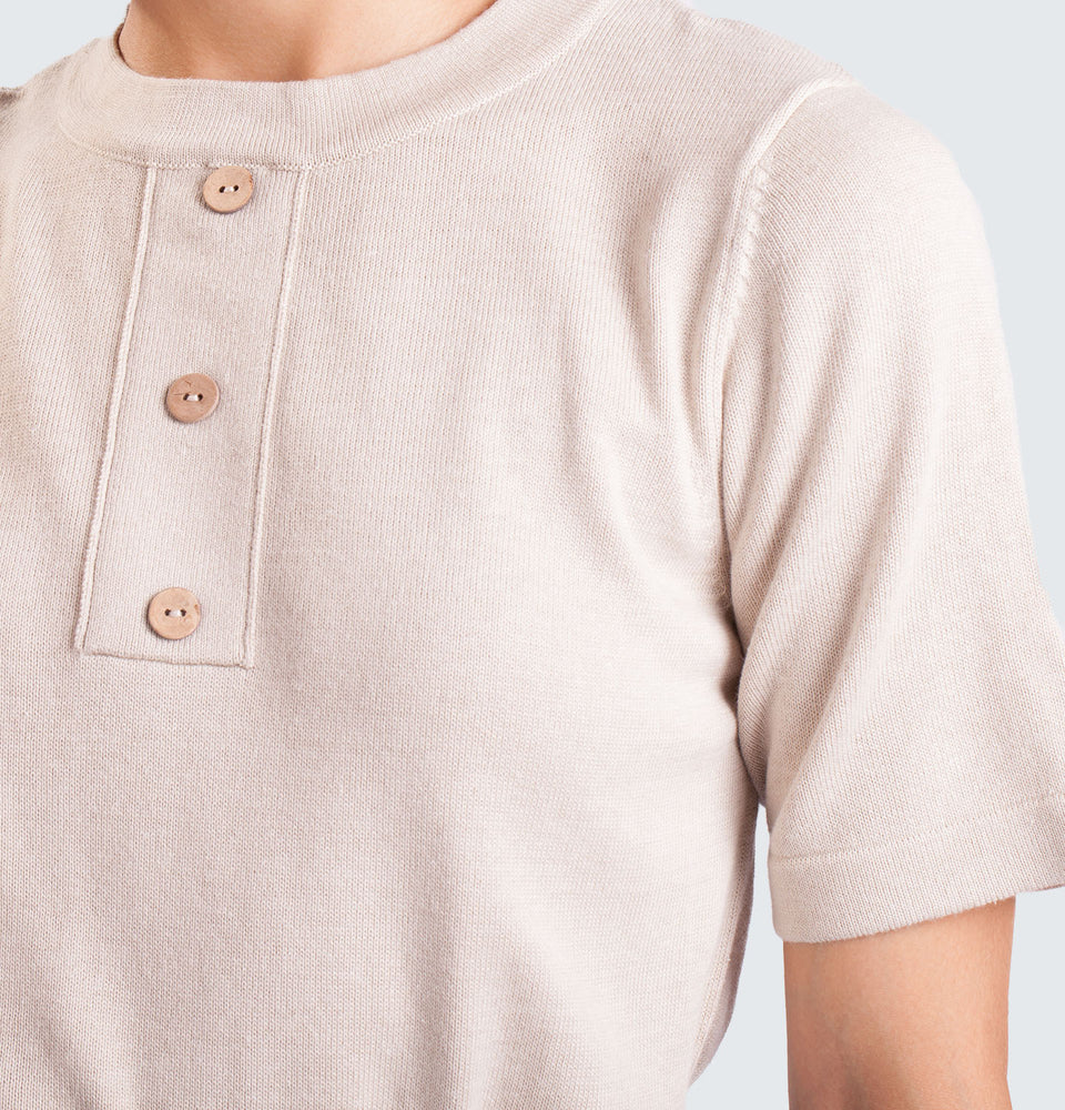 Sleeve Button Shirt - Mantou Clothing