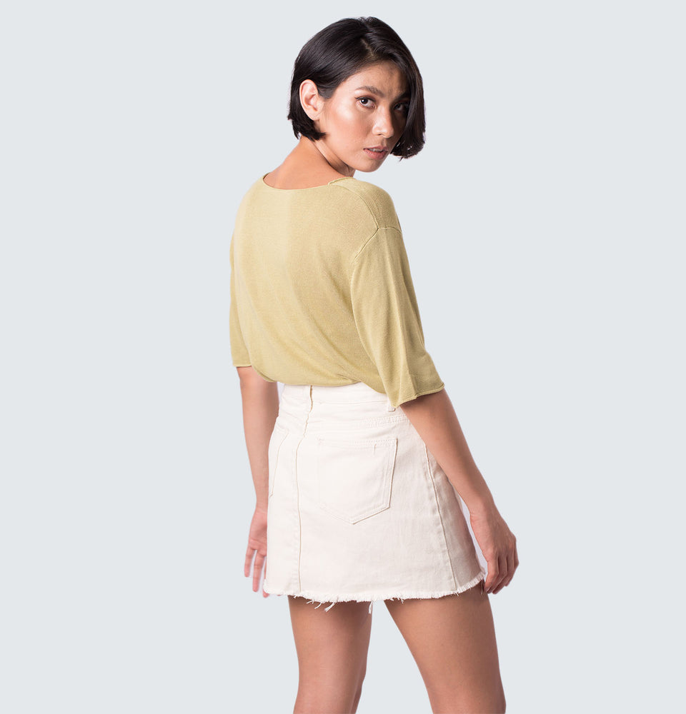 Buttoned Down Skirt - Mantou Clothing
