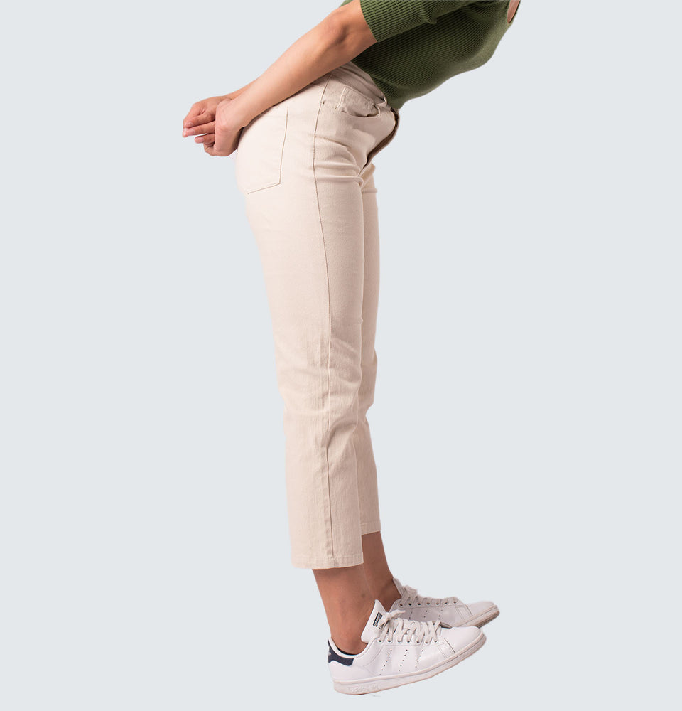 Elaine  Cream Pants - Mantou Clothing