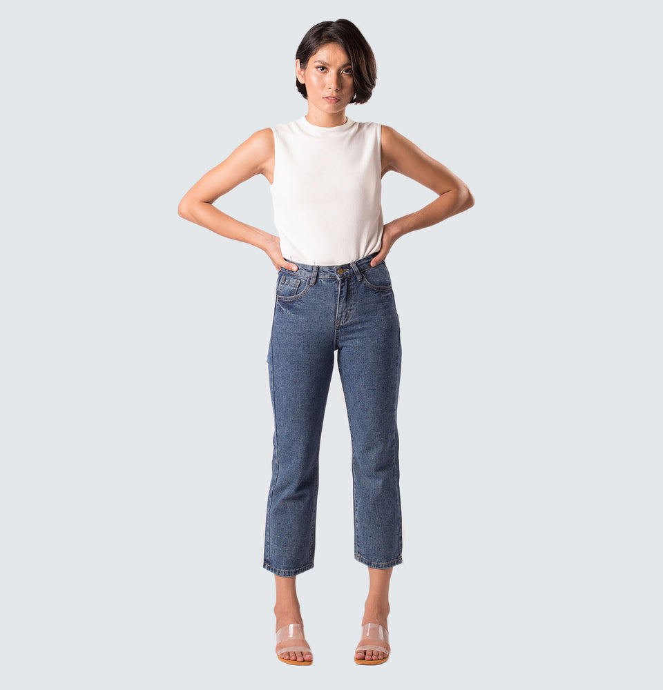 Cassy High Rise Jeans - Mantou Clothing