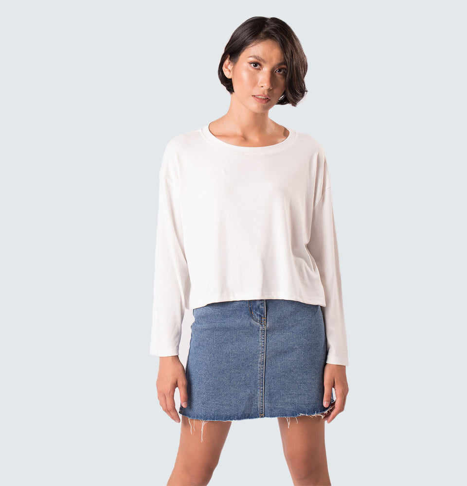 Kitty Long Sleeve Polyester Top - Mantou Clothing