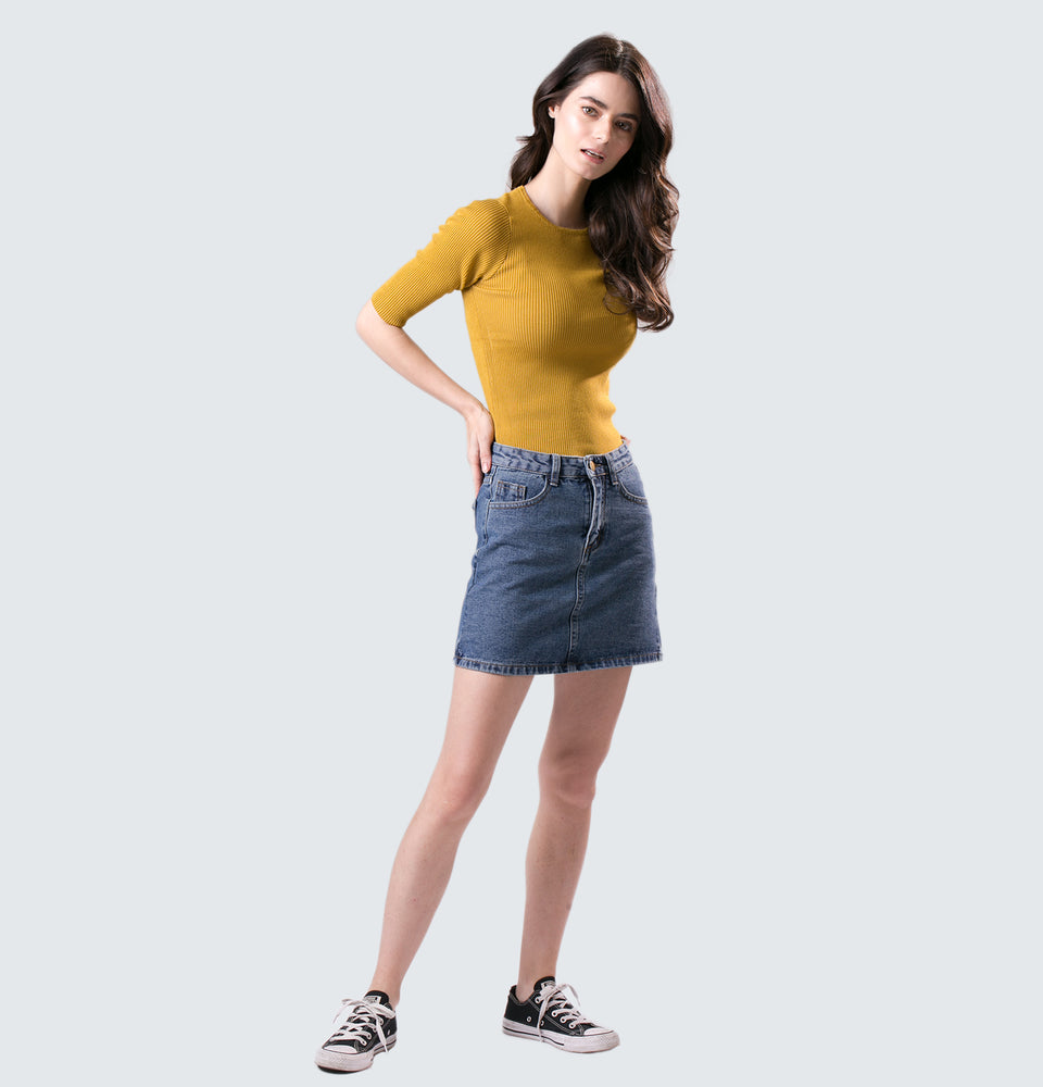 Kathleen Ribbed Top - Mantou Clothing