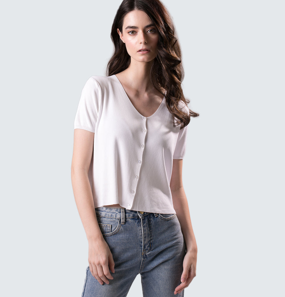 Laney Buttoned Down Top - Mantou Clothing