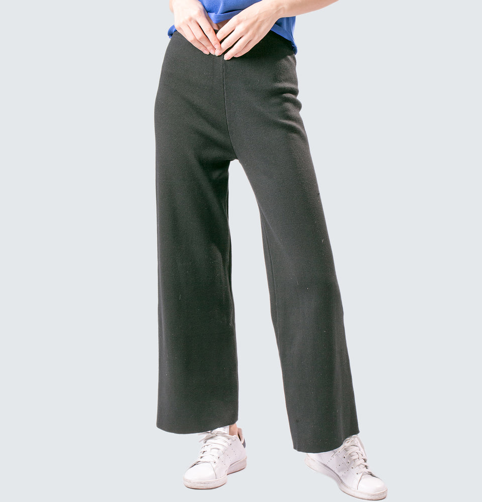 Wide Leg Cashmere Trousers - Mantou Clothing