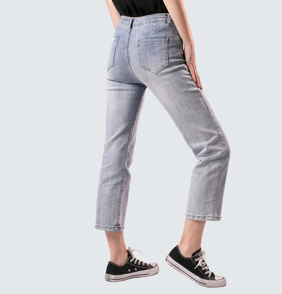 Tina Straight Leg Ankle Jeans - Mantou Clothing