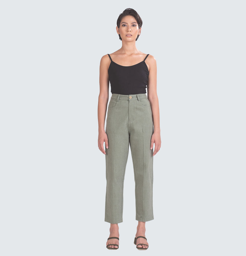 Slim Pleated Wide Leg Pants