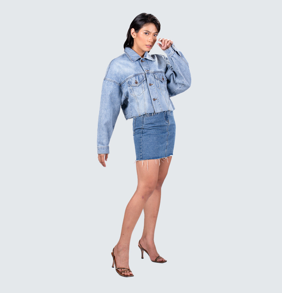 Celine Crop Denim Jacket