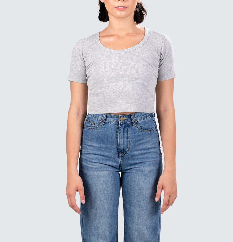Marie Ribbed Crop Top