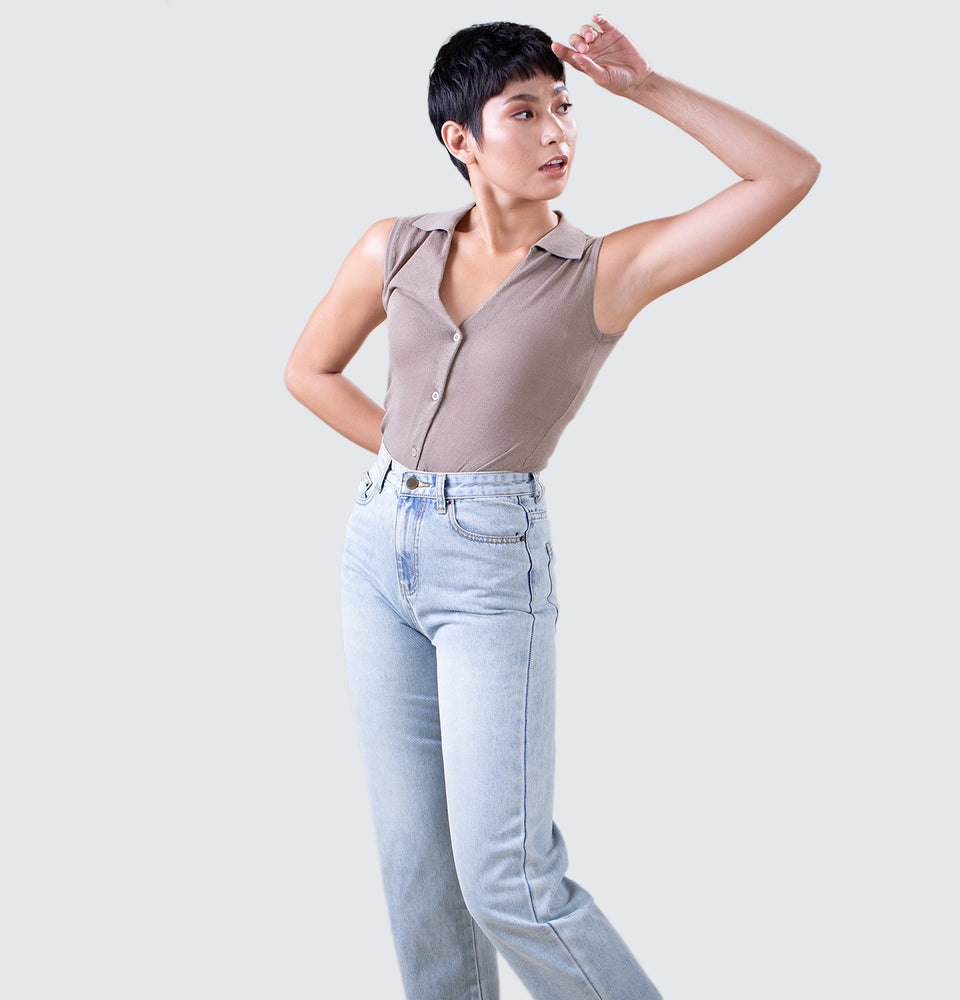 Merl V-neck Top - Mantou Clothing