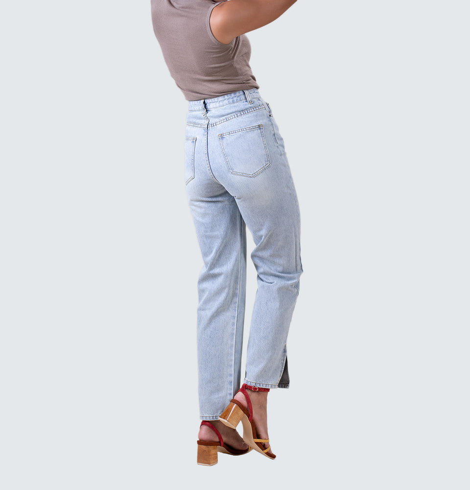 Adeline Straight Leg Jeans - Mantou Clothing