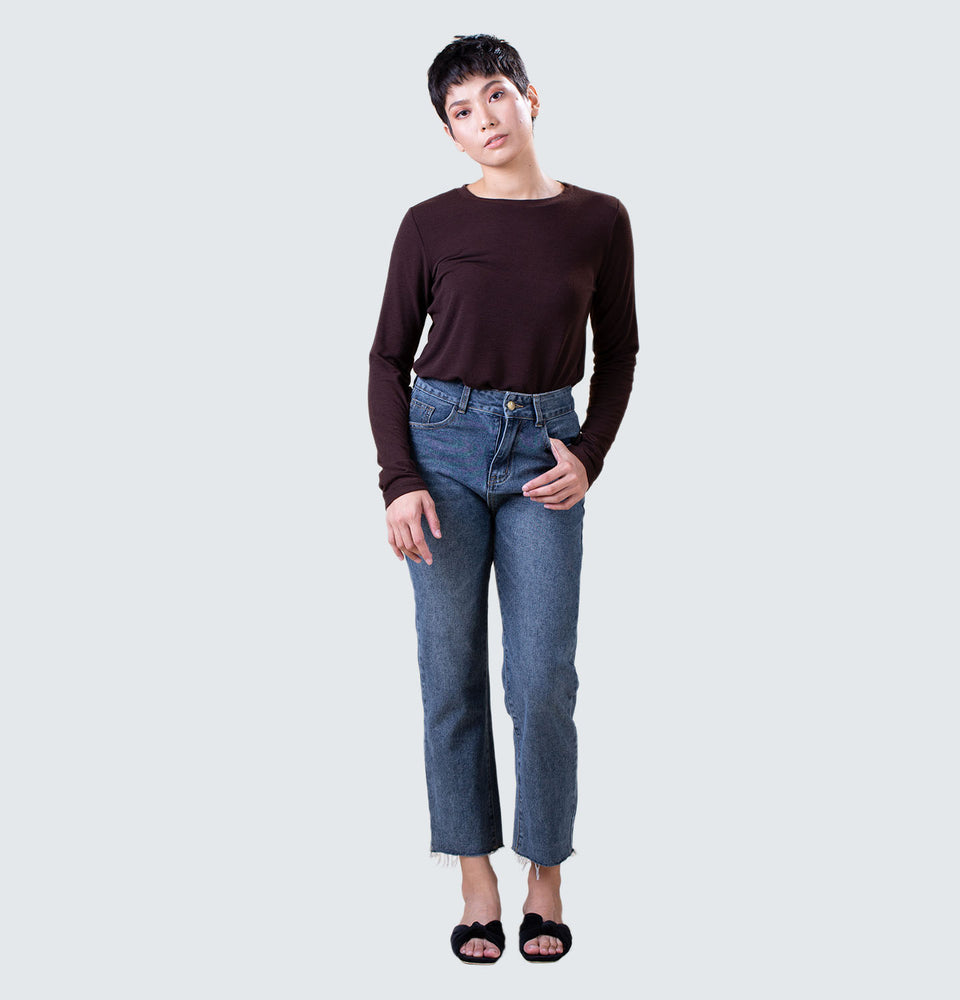 Sasha High Rise Straight Leg Jeans - Mantou Clothing