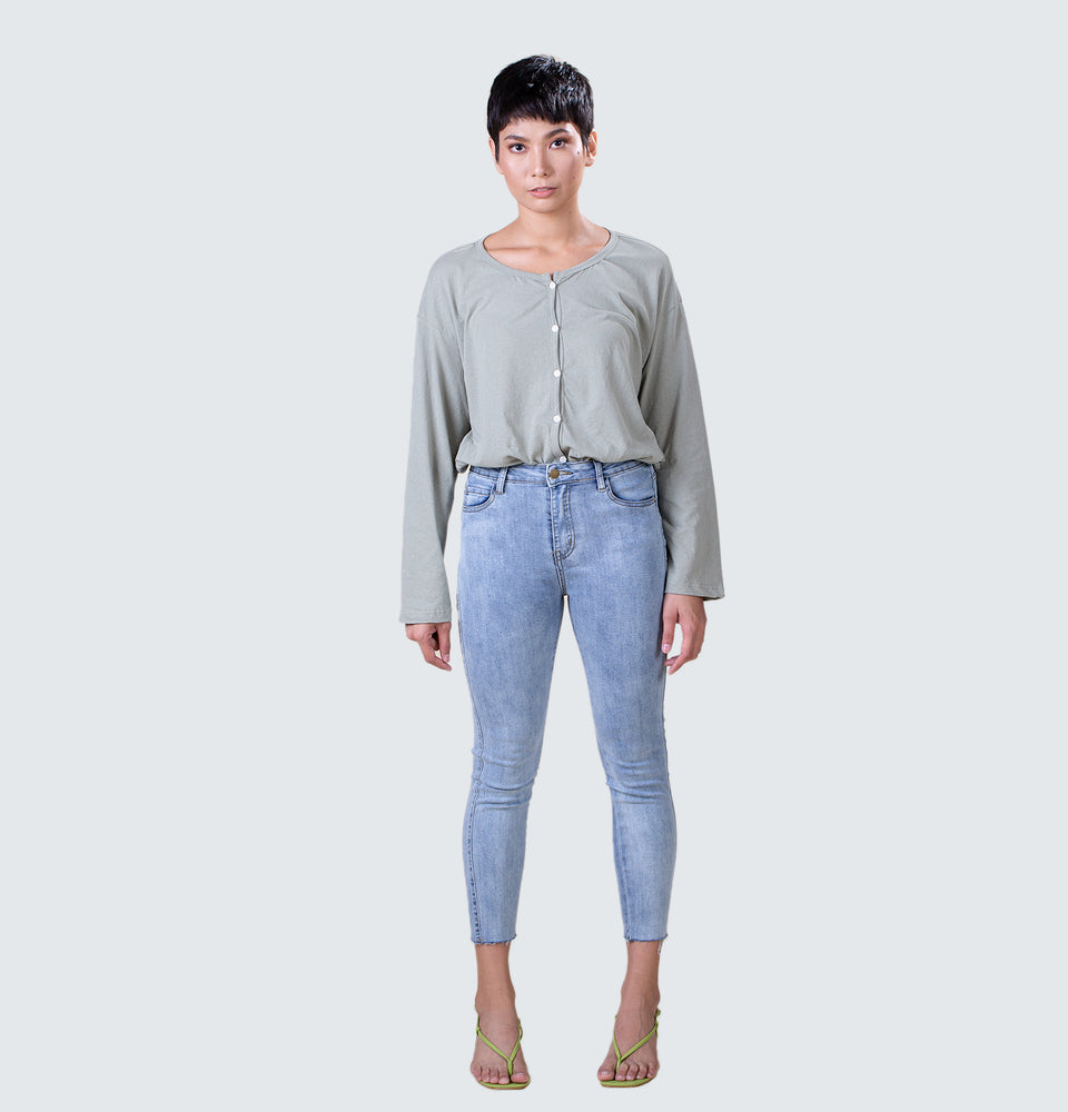 Jane Button Down Long Sleeves - Mantou Clothing