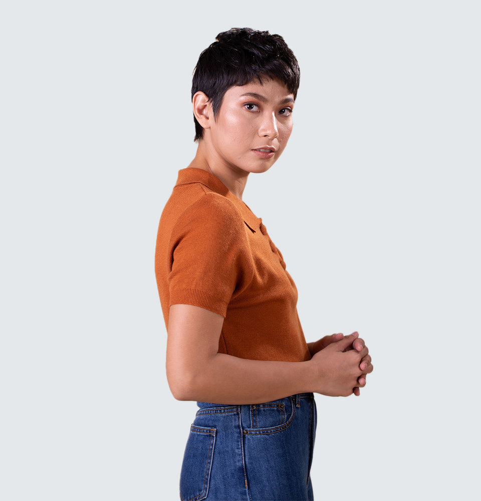 Bianca Polo Top - Mantou Clothing