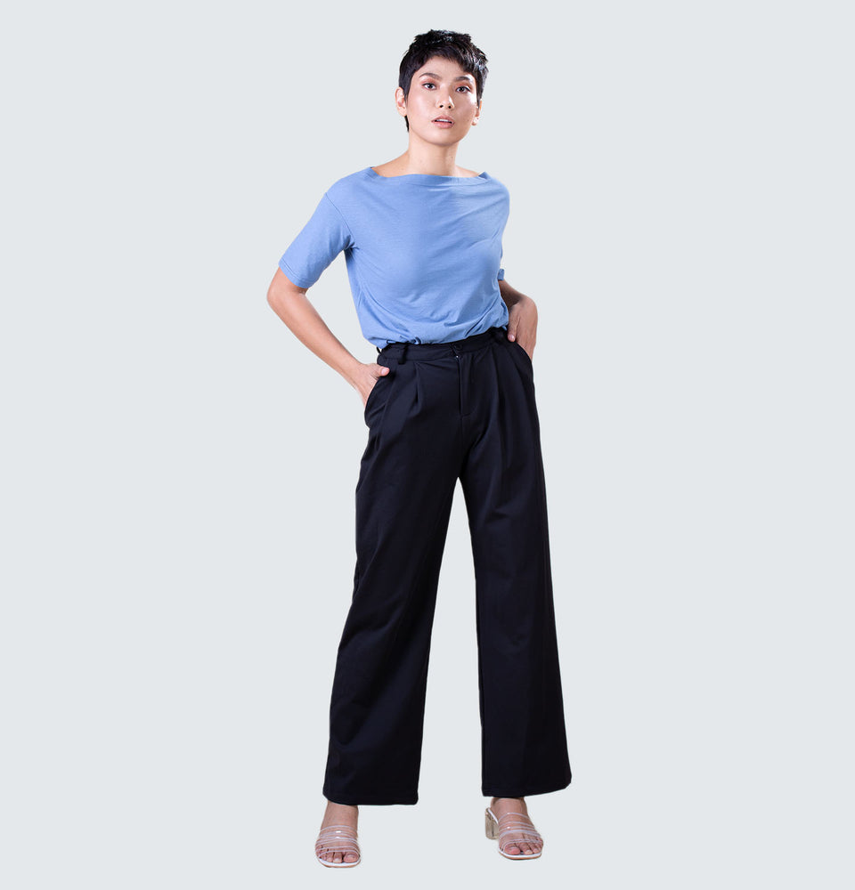 Grace Wide Leg Trousers - Mantou Clothing