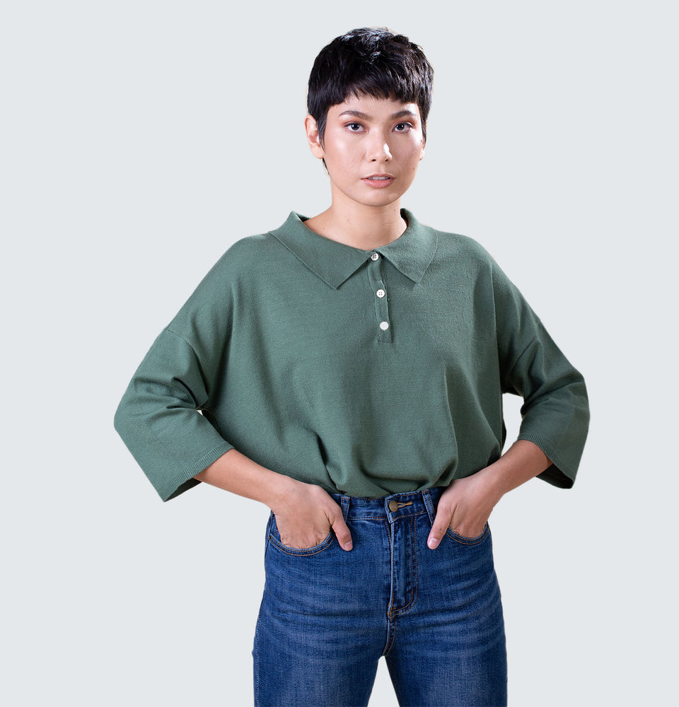 Steph Polo Top - Mantou Clothing