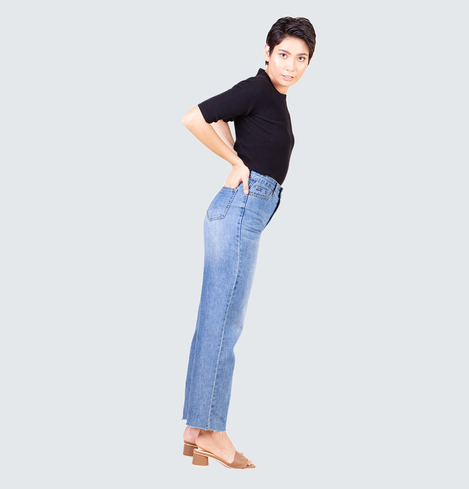 Bailey Wide Leg Jeans - Mantou Clothing