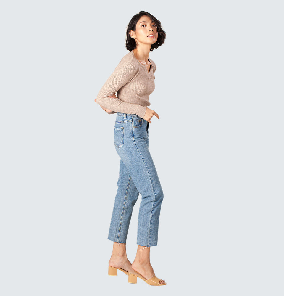 Shim-b Straight Leg Jeans - Mantou Clothing