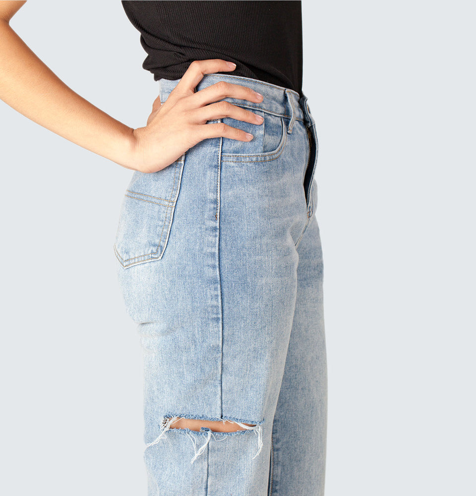 Windy Hi-rise Jeans - Mantou Clothing