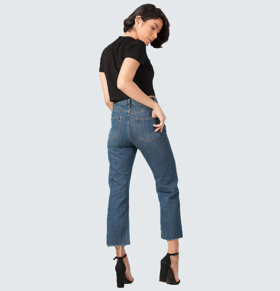 Hi-Rise Wide Leg Jeans - Mantou Clothing