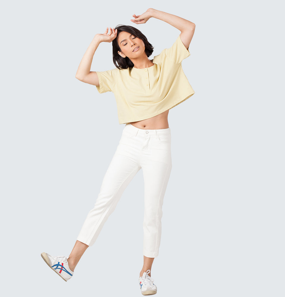Button Crop Shirt - Mantou Clothing