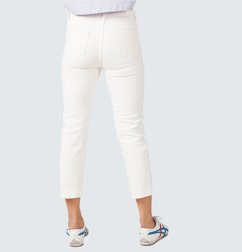Shim's Straight Crop Jeans - Mantou Clothing