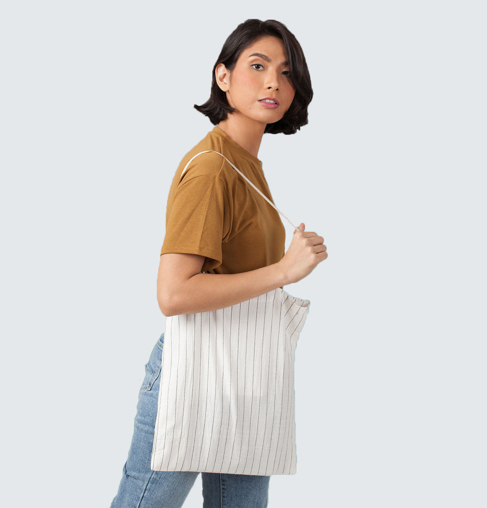 Stripe Tote Bag - Mantou Clothing