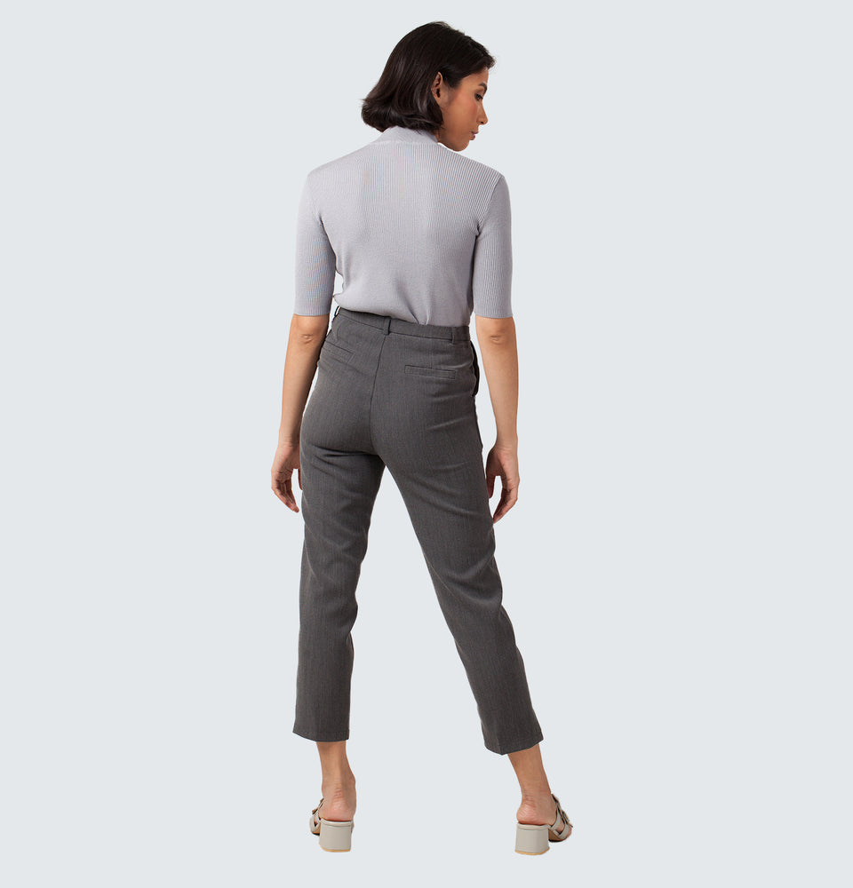 Grey Grandpa Trousers - Mantou Clothing