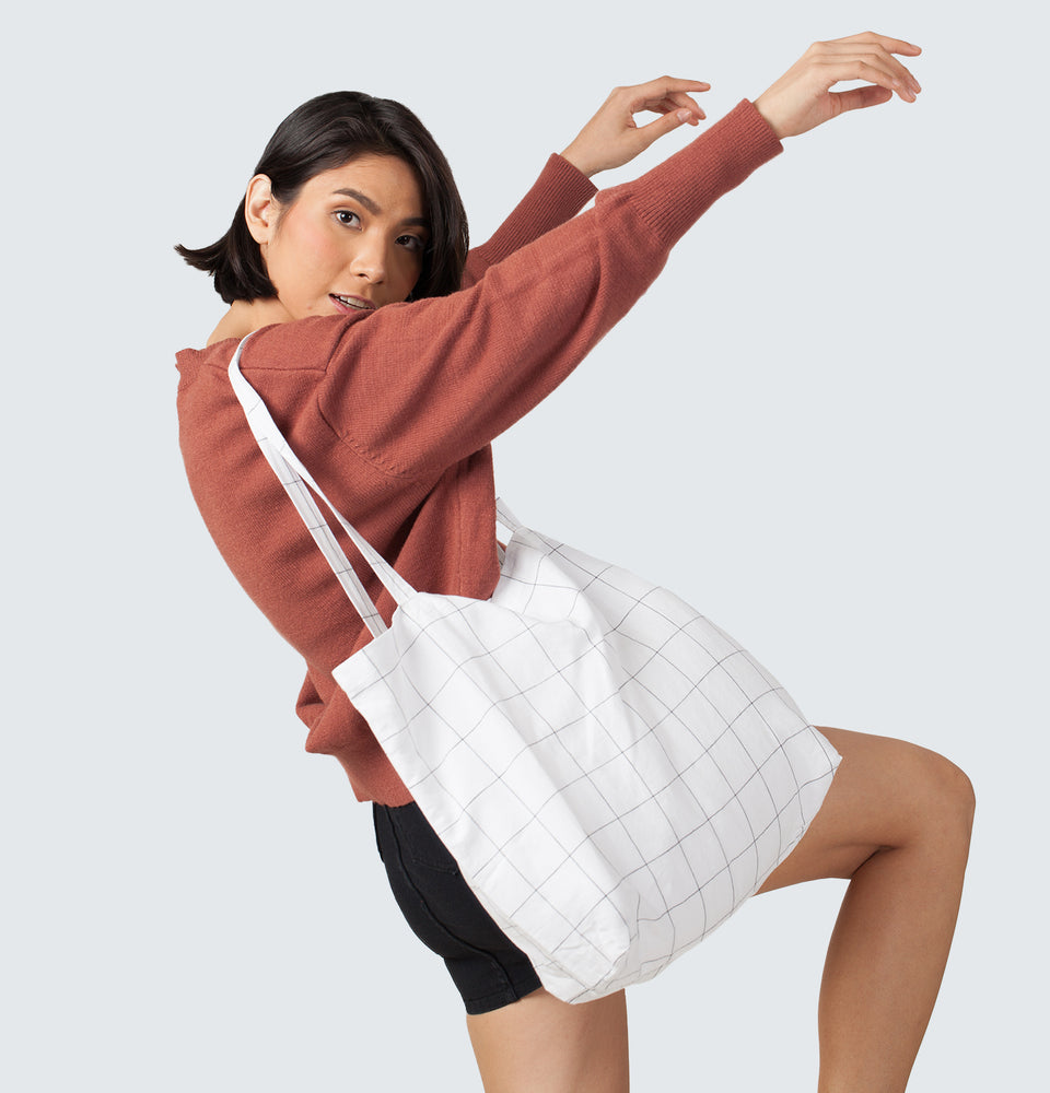 Checkered Tote Bag - Mantou Clothing