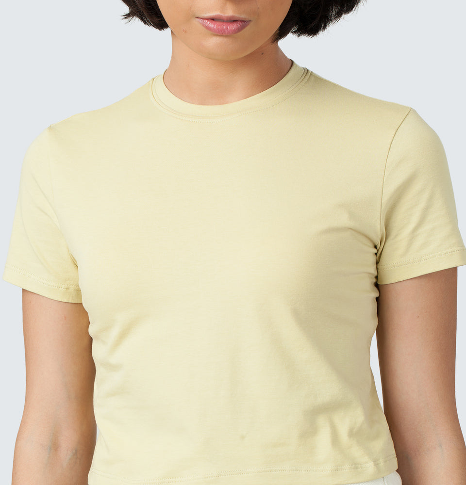 Ally Crop Tee - Mantou Clothing