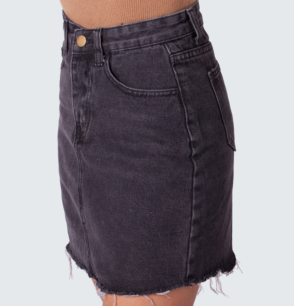 Basic Denim Skirt - Mantou Clothing