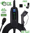 32 & 40 Amp - PRIMECOMTECH Level-2 Electric Vehicle Charger 220 Volt 30 - 40 - 50 Feet