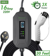 16 Amps - Primecom Level-2 Electric Vehicle Charger 220 Volt 30', 40', and 50' Feet Lengths