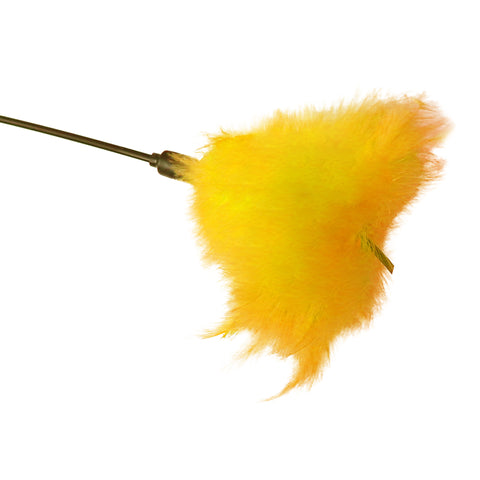 Puff Wand Enticing Feather Tickler Cat Toy